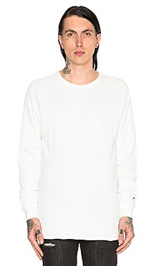 Black Scale Stingray L/S Tee in White