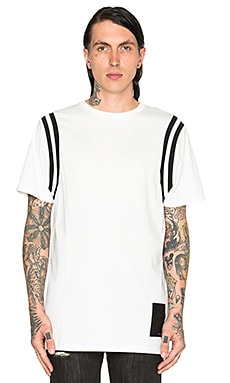 Black Scale Varsity Tee in White