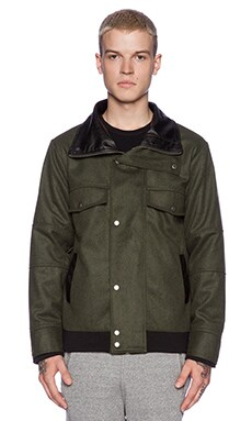 B:Scott Mock Bomber in Olive/Black