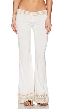 Bettinis Lace Trim Pant in White