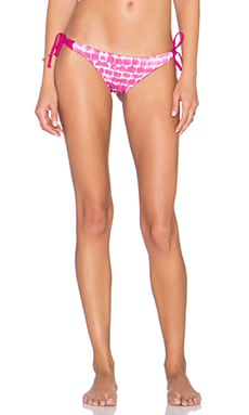 Multi Strap Tie Side Bikini Bottom in Pink Static