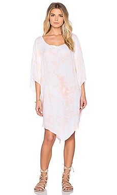 Bettinis Tie Dye Poncho in Peach