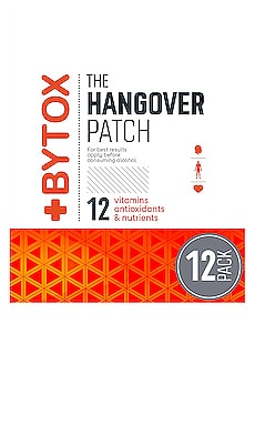 The Hangover Prevention Patch 12 Pack Bytox $48