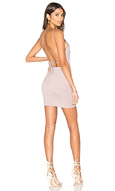Solange Mini Dress in Mauve
