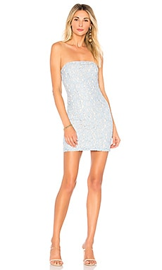 Charlize Lace Strapless Dress superdown $64