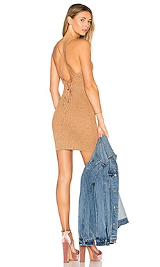 Goldie Knit Mini Dress in Camel