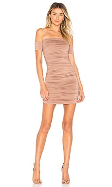 Elora Ruched Off The Shoulder Dress superdown $66 BEST SELLER