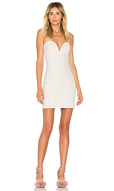 Alessia Sweetheart Bodycon Mini Dress en Ivory