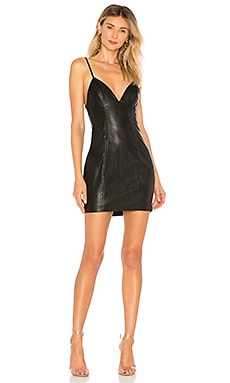Becca Faux Leather Dress superdown $68