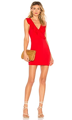 Flora Ruffle Mini Dress superdown $64