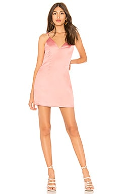 Kacie Satin Mini Dress by the way. $34