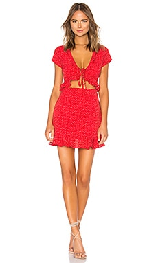 Mercy Polka Dot Dress superdown $66