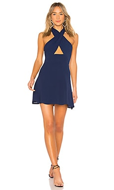 Ember Halter Fit & Flare Dress by the way. $66