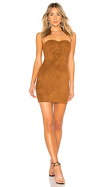 Carla Faux Suede Strapless Dress by the way. $32