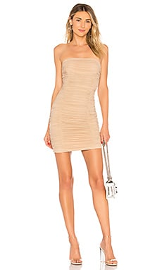 Ivanna Ruched Sheer Strapless Dress superdown $66 BEST SELLER
