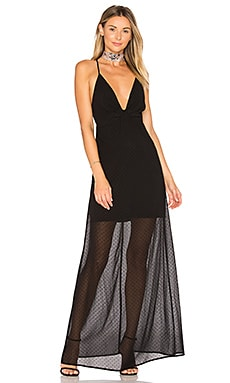 Heike Deep V Maxi Dress