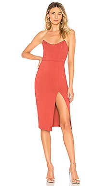 67bde1bb30 Zarah Strapless High Slit Midi Dress by the way.