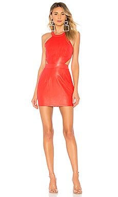 Willa Faux Leather Mini Dress by the way. $78