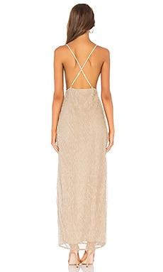 Superdown Hailee High Slit Maxi Dress On sale
