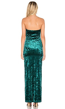 Promo Code By The Way Faith Crushed Velvet Strapless Gown