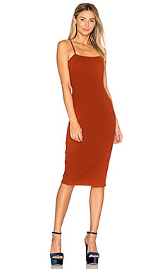 Roma Midi Dress in Rust