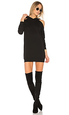 Delia Cold Shoulder Sweatshirt Dress