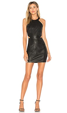 Willa Faux Leather Mini Dress