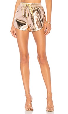 Kiki Metallic Track Shorts in Metallic Copper. - size L (also in M,S,XS,XXS) by the way.