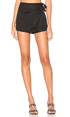 Trina Wrap Skort in Black