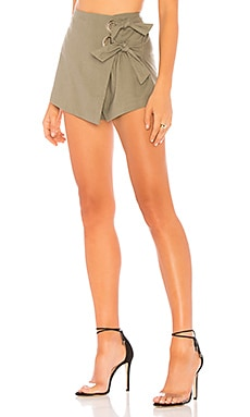 Alaya Grommet Wrap Skort superdown $29