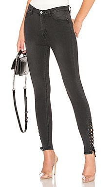Madelyn Lace Up Skinny Jeans by the way. $34