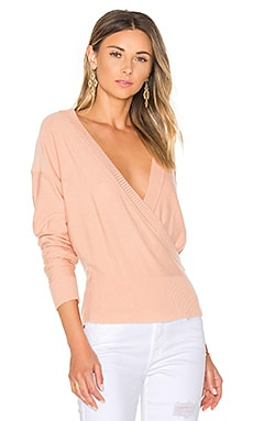 Danna Surplice Sweater in Blush