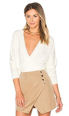 Danna Surplice Sweater in Cream