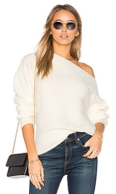 Kylie Off Shoulder Sweater in Cream