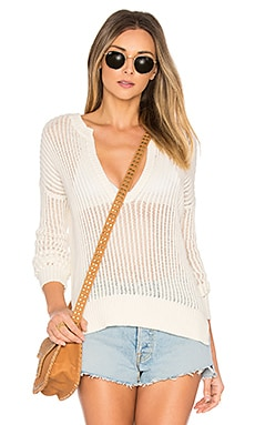 Pearl Open Knit Sweater in Ivory