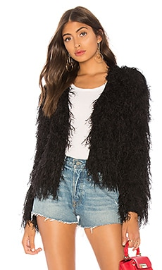 Louie Furry Black Coat by the way. $66 NEW ARRIVAL