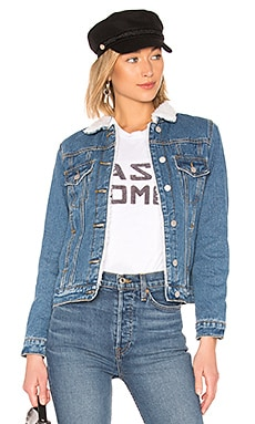 Selene Sherpa Denim Jacket by the way. $52