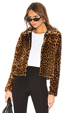 Casey Leopard Faux Fur Coat superdown $108 BEST SELLER