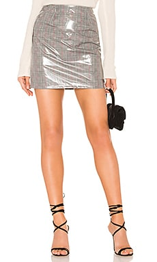 Aime Vinyl Mini Skirt by the way. $38