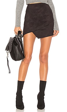 Saira Faux Suede Mini Skirt by the way. $52