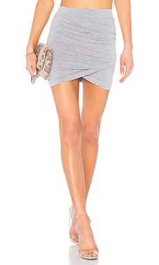 Arden Ruched Mini Skirt superdown $26