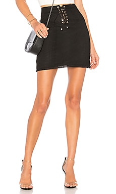 Karlie Mesh Lace Up Skirt by the way. $22