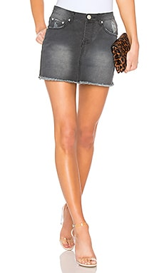 Tara Denim Mini Skirt by the way. $27