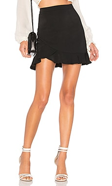 Milan Ruffle Mini Skirt superdown $48 BEST SELLER