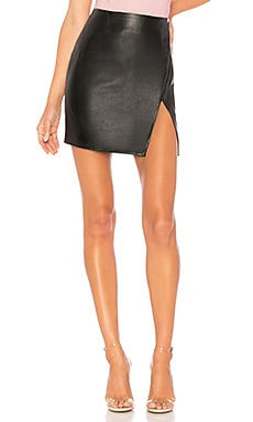 Trinity Faux Leather Skirt superdown $48