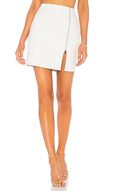 Melissa Zip Up Faux Leather Mini Skirt by the way. $52