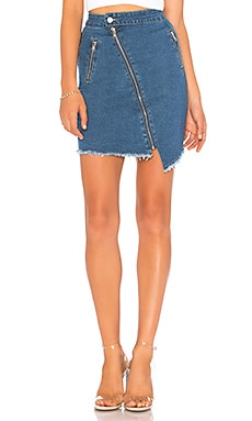 Katie Denim Moto Skirt by the way. $33