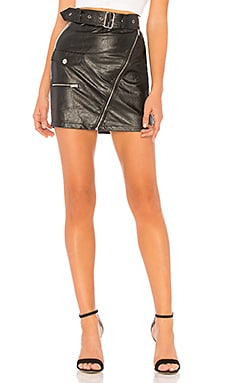 Addy Faux Leather Moto Skirt by the way. $58