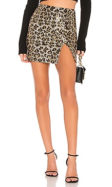 Travie Sequin Mini Skirt superdown $58