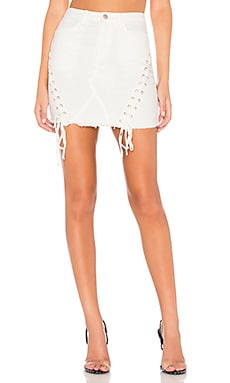 Naomi Lace Up Denim Skirt by the way. $27